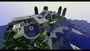 Les Plus Belles Maisons : ma plus belle maison moderne sur minecraft projet 4k ~ Melissatoandfro.com Idées de Décoration