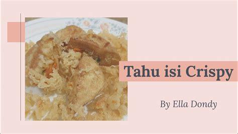 Oct 1, 2019·3 min read. Resep Tahu isi goreng Crispy tahan lama dan Simple - YouTube