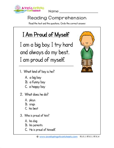 kindergarten reading comprehension every kid needs to