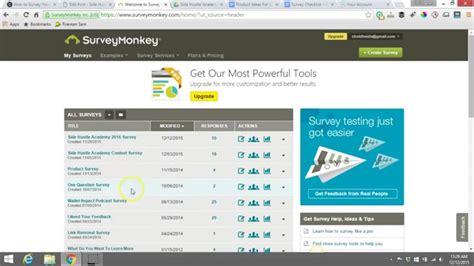how to setup a survey with survey monkey youtube