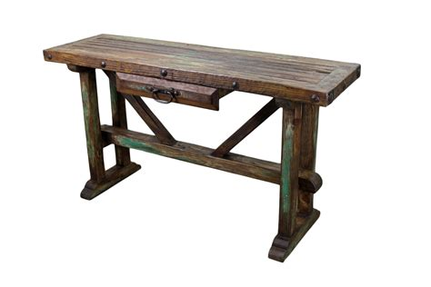 rustic wood sofa table recycled old pine sofa table rustic mexican furniture