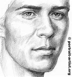 Male Face Pencil Drawing