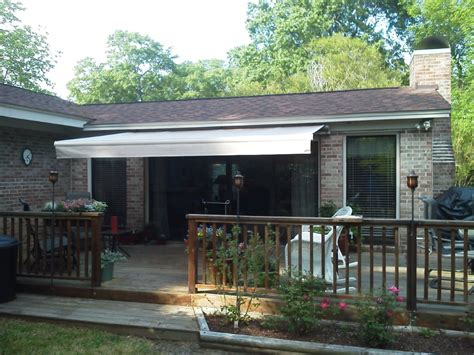 retractable awnings wilmington awning  shutters