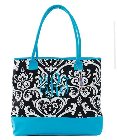 damask insulated cooler tote bag monogrammed tinytulipcom    personalization