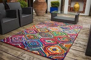 Tapis Moins Cher : tapis de salon moderne carnivale multicolore 100 coton 100x160cm ~ Teatrodelosmanantiales.com Idées de Décoration