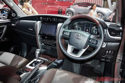 india bound  toyota fortuner interior showcased  giias