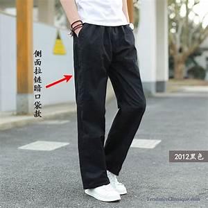 Pantalon Bleu Marine Homme : pantalon mode bleu marine homme pantalon en lin blanc ~ Melissatoandfro.com Idées de Décoration