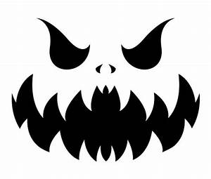 download this evil pumpkin face stencil and other free With evil face pumpkin template