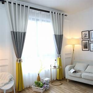 3 colors striped blackout curtains for the bedroom cotton With curtains for the living room