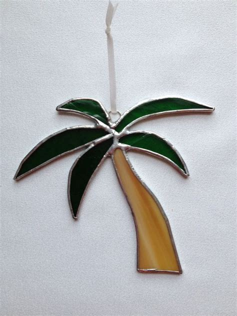 stained glass ornament palm tree