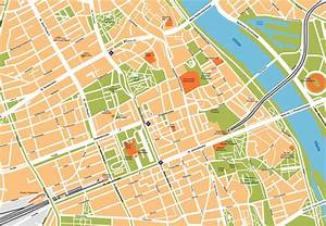 Warsaw Vector Map For Your Project
