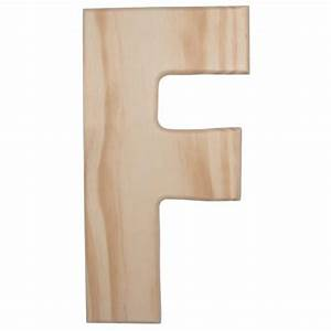 12quot natural wood letter f u0993 f craftoutletcom With natural wood letters