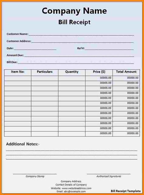 official receipt template word printable receipt template