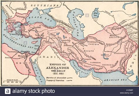 map   empire  alexander  great   bc stock