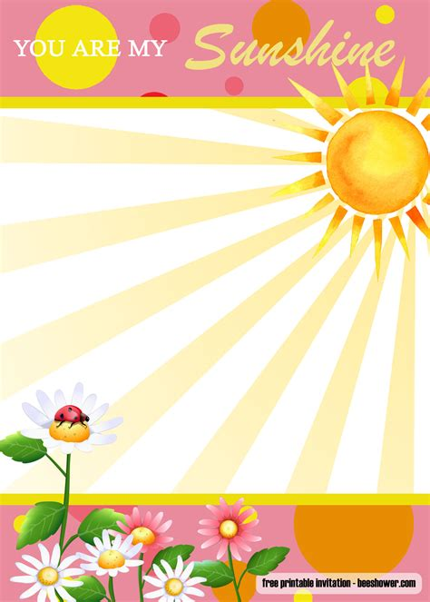 sunshine baby shower invitation
