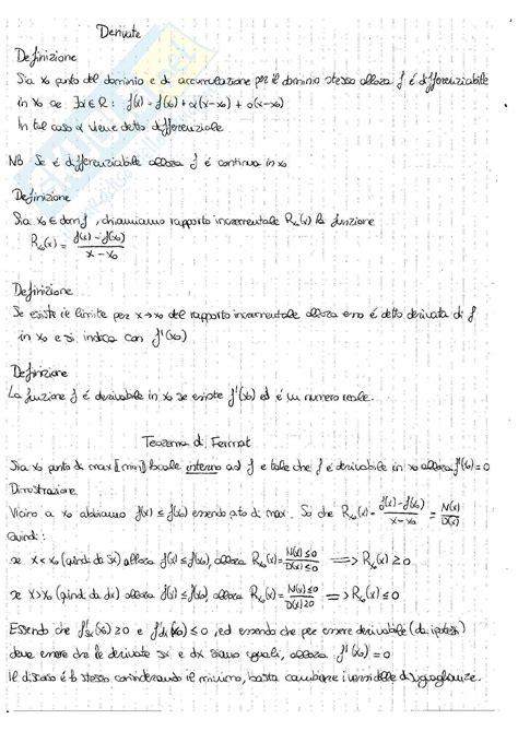 analisi matematica 1 dispense derivate e integrali appunti di analisi matematica 1