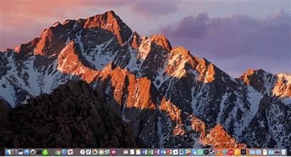 Screen Animated Computer Swipe Turn Dock Into