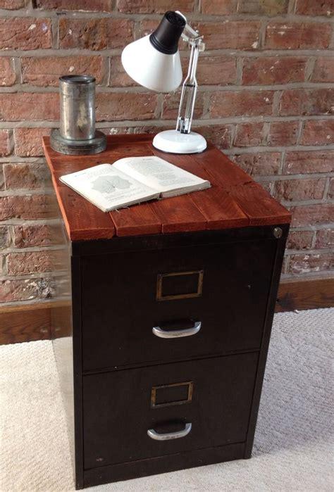 vintage industrial chic metal filing cabinet