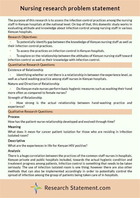 Examples Of Nursing Research Problem Statements Examples Of