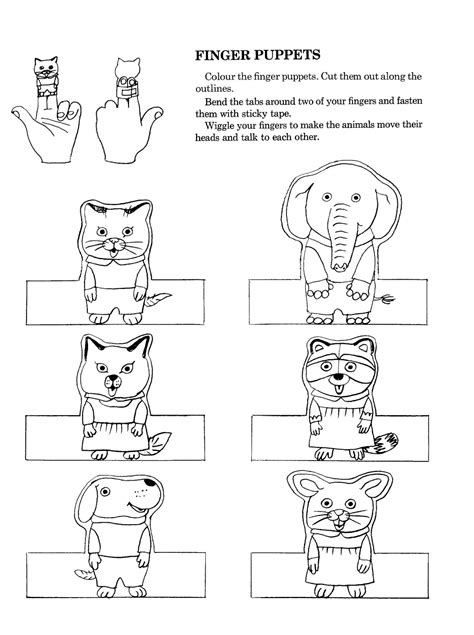 Paper Finger Puppets Templates by Family Finger Puppets Coloring Pages Sketch Coloring Page