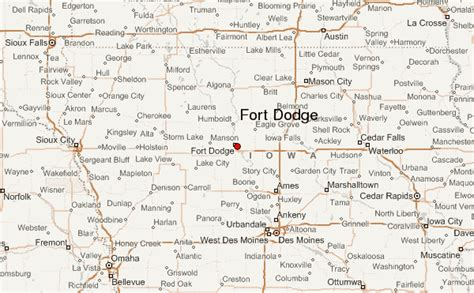 C Dodge Map by Fort Dodge Location Guide