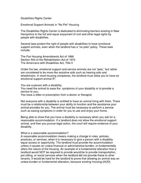emotional support animal template letter samples letter