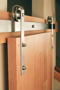 classic stainless steel sliding barn door hardware real With barn door closer
