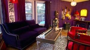 Junk Gypsies Purple Living Room Makeover Video HGTV