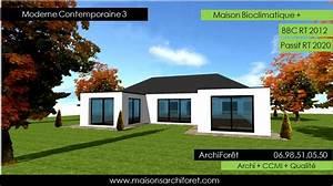 maison plain pied en u toit plat ventana blog With lovely maison bois toit plat 12 maison contemporaine avec patio