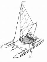 Catamaran Disegno Katamaran Cruising Inflatable Estratto Ru sketch template