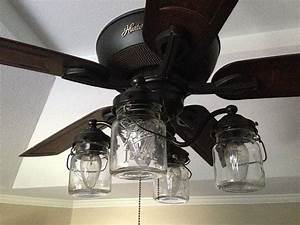Vintage mason jar ceiling fan light kit
