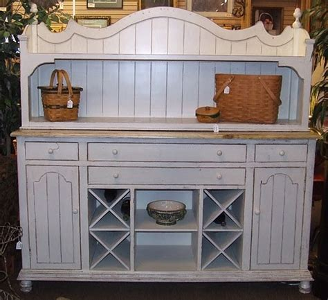 White Buffets And Sideboards by Cottage Style White Buffet W Hutch Buffets And