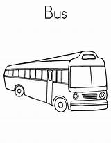 Bus Coloring Transportation Netart Cheap Drawing sketch template