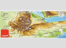 Physical Panoramic Map of Ethiopia