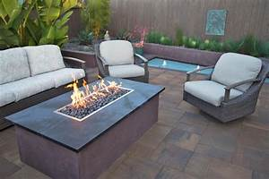 Patio, Table, With, Gas, Fire, Pit