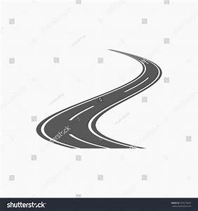 Curved Road Icon Stock Vector 376515034 - Shutterstock