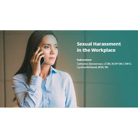 Sexual Harassment In The Workplace Relias Academy