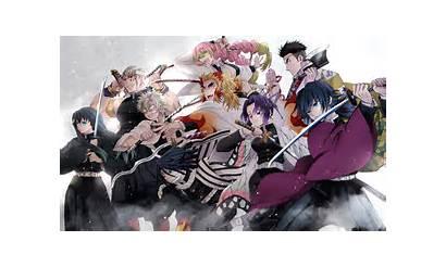 Slayer Demon Kimetsu Yaiba Team Anime Wallpapers