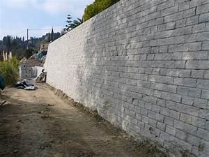 Mur En Béton : mur de sout nement en bloc de b ton leromur r alisation baticoncept ~ Melissatoandfro.com Idées de Décoration