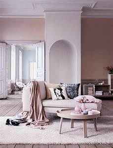 decoration salon peinture rose With couleur bois de rose peinture 2 deco salon gris 88 super idees pleines de charme