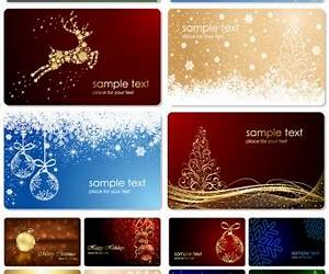 Business cards vector graphics blog for Business christmas card template