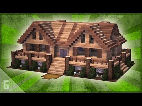 deluxe minecraft wooden cabin tutorial  youtube