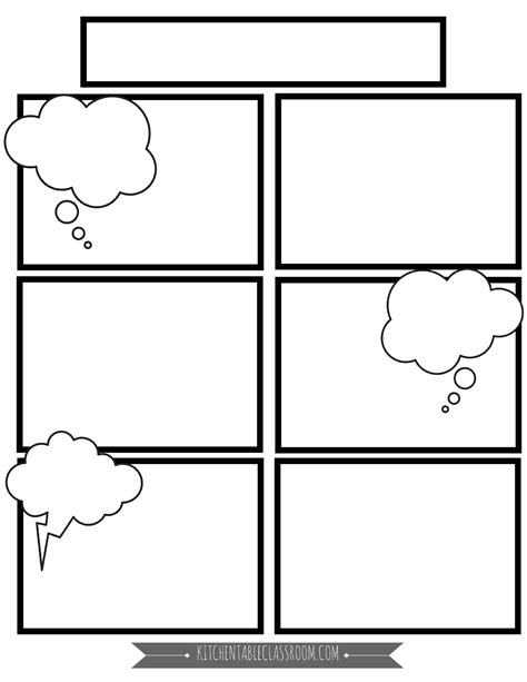 comic template  png  kitchen table classroom