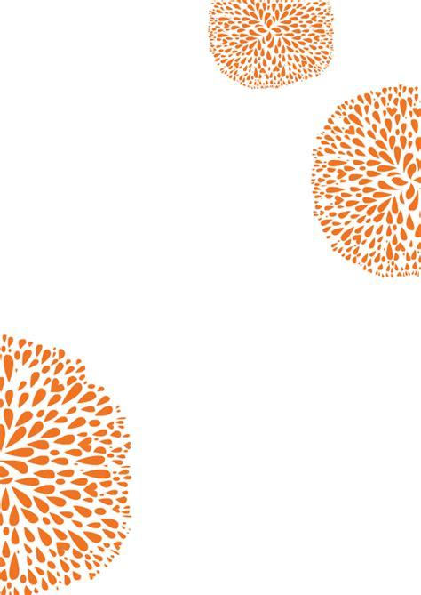 menuekarte hochzeit flowers orange