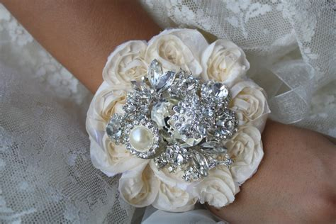 Wrist Corsage Brooch Wrist Corsage Wedding Bridal Jewelry