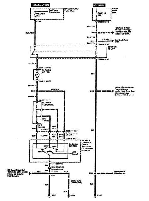 acura integra 1989 wiring diagrams hvac carknowledge