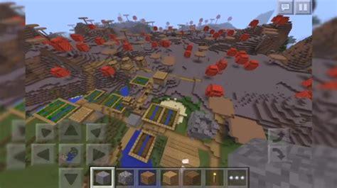 mushroom village seed minecraft pe seeds