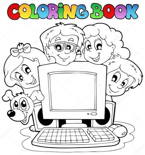 Imágenes: computadores animados para niños colorear