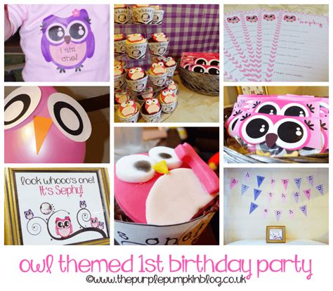 owl themed st birthday party