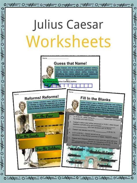julius caesar facts worksheets life impact assassination for kids